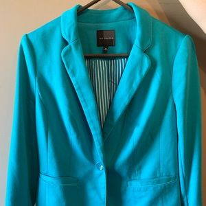 Turquoise blazer from the Limited